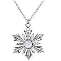 Prenses Kar tanesi gerdanlık kolye Moda Charms Çiçek Kadınlar Pandantifler Kolye Yılbaşı Hediyeleri Mücevher Dongsheng Once Upon A Time