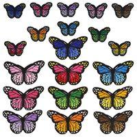 20 stilleri kelebek rozetleri giysi nakış yama aplike ütü giyim dikiş malzemeleri giyim için dekoratif yamalar