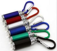 LED Llavero linternas mini portátil de la cadena de zoom Glare Linterna llaves Escalada de la hebilla de las luces de aleación de aluminio antorchas de mini lámparas