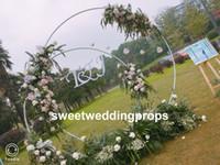 새로운 스타일오고 도매 최신 결혼식 장식 야외 실내 리드 도로 배경 장식 best0526