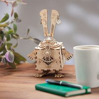 Robotime Creative DIY 3D Steampunk Rabbit Wooden Puzzle Game...