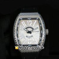 Роскошный новый Vanguard Date V45 SC DT Black PXL серебристый циферблат автоматический мужской часы стальной корпус резиновый ремешок спортивные ворота часы Hello_Watch 2Color