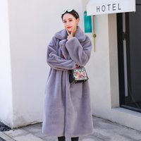 Nerazzurri winter women faux fur coats fluffy furry thick warm plush coat black yellow long plus size fake fur jacket 5xl 6xl Y200926