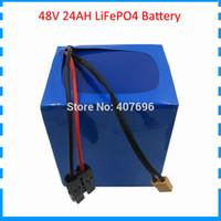 batería de 48V 24Ah LiFePO4 32700 Uso de células 15S 4P para la bicicleta eléctrica del motor 48V 1000W 2000W con el cargador 50A Bafang BMS