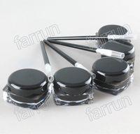 kein Logo schwarzer Eyeliner Creme mit Pinsel Festes Eyeliner Gel mit freiem Pinsel zum günstigen Preis Ihr eigenes Logo drucken.