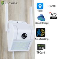 WIFI 1080P Caméra IP Surveillance sans fil Caméras Mur d'extérieur Lumière d'extérieur Webcam Capteur de détection de mouvement PIR
