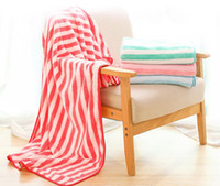 Soft Bath Towel Quick- drying Thicken Stripe Colorful Towels ...