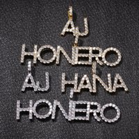 Kundenspezifischer Name Euro Out Brief Halskette Herren Hip Hop Gold Silber Womens Buchstaben Anhänger Halsketten Jewerly