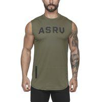Dos homens de Fitness Casual Sportswear Regatas Para Meninos Verão Basculador Workout Mangas Singlests T-Shirts Coletes Undershirt