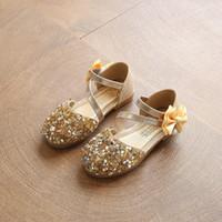 جديد صغير صغير الأطفال الفتيات الصيف الترتر بريق الصنادل أحذية للفتيات الأميرة حزب حفل زفاف جلدية جديدة 2020 Y200103