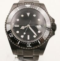 Libero di trasporto di nuovo stile superiore 2813 orologio bracklet zaffiro 44MM bracciale in acciaio inossidabile Automatico Nero Data Mens Orologi quadrante nero