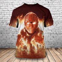 القمم صيف جديد تيز الرعب هالوين مايكل مايرز 3D مطبوعة رجال فريد الملابس قصيرة الأكمام التي شيرت قطرة شحن