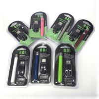 Atacado 510 bateria 350 mah Lo pré-aqueça magro VV baterias descartáveis vape pen 510 attery e kit carregador USB Para extrato de cartuchos de óleo