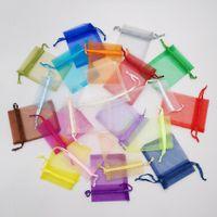 포장 표시 보관 파우치 웨딩 보석 크리스마스 DIY의 선물 가방 7x9cm 작은 오간자 선물 가방