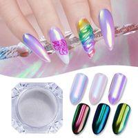 Glitter 0,2g Unicorn Mirror Nail poudre ultra-mince Aurora sirène Chrome Pigment bricolage Nail Art poudre dropshipping