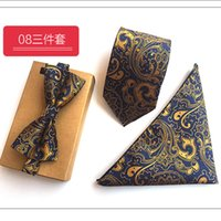 New Red Dots Plaid Paisley Tie Set 100% Silk Jacquard Mens N...