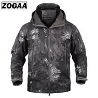 ZOGAA 2019 nuevos hombres de forro de lana chaqueta táctica abrigo hombres al aire libre chaquetas y abrigos para hombre