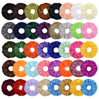 40color velvet girls scrunchies hair bands accessories for k...