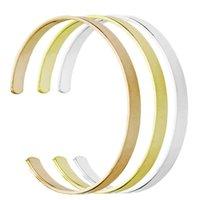 Moda mulher pode lettering personalização pulseira C forma abertura design aço inoxidável 3 cores lettering pulseira