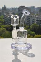 Kleiner lila Klecks rig Wasserglas bong mini Bongs Pfeifen Shisha-Rauchen Zubehör berauschendes Glas neue Recycler Bohrinsel 14mm bange billig