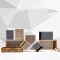 Buzlu PVC Kapak Kraft Kağıt Çekmece Kutuları DIY El Yapımı Sabun Zanaat Mücevher Kutusu Düğün Parti Hediye Paketleme EEA1188-2