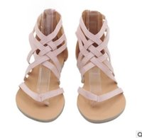 New Fashion Flat Damenschuhe Roman Cross mit Sandalen