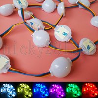 12V 5050 RVB Module LED Lampe de bande de bande de la bande 3LEDS hémisphérique plastique non étanche Changement de couleur pour la fenêtre de la fenêtre avant signe
