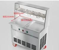 Жареное мороженое машина коммерческого Матча Сковорода мороженое катится Maker автоматическая жарятся йогурт машины Жареных мороженое ролл машина
