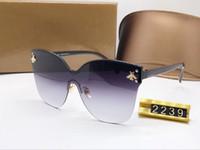2019 New Luxury Womens bee Brand Sunglasses Fashion Oval Sun...