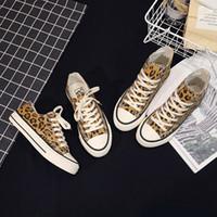 Primavera / otoño mujeres zapatillas de deporte tenis feminino lienzo zapatos estrella leopardo impresión entrenadores caminando zapatos mujer chaussure femme US-17