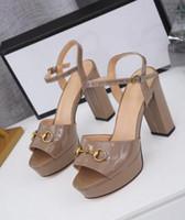 [Orignal Box] Новое поступление Женские супер высокие каблуки 105 мм платформы сандалии дамы Slincbacks Sewskin летнее дышать пряжки strapshoes 35-41