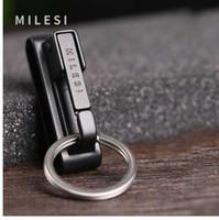 Milesi الفولاذ المقاوم للصدأ سلسلة المفاتيح للرجال سحر هدية الخصر شنقا الثقيلة حامل مفتاح الرجال سيارة حلقة رئيسية K0292