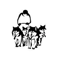 Husky Köpekler Kızak Araba Sticker Duvar Ev Cam Pencere Kapı Oto Vinil Çıkartması Araba Aksesuarları Dekor CA-567