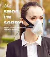 Gas organico a vapore Protezione maschere antigas sicurezza sul lavoro mezza maschera di sicurezza Maschera filtro maschere antigas