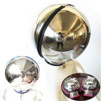 Novo design de aço inoxidável capacete luvas luvas de restrição kits esférico bondage set pulso adulto jogo para par g7-83