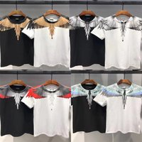 Marcelo Burlon T-Shirt Uomo Donna Italy County Of Milan Feather Wings MB T-shirt RODEO MAGAZINE Tee Marcelo Burlon T-shirt