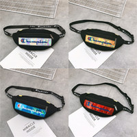 Hologram Laser Fanny Pack Champions Marsupio in mesh Patchwork Crossbody Shoulder Bags Borse tracolla cinghia regolabile tracolla Totes C51003