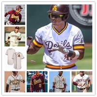 2020 Arizona State Sun Devils Baseball Asu Men Jersey 5 Alika Williams 8 Nick Cheema 9 Sam Ferri 10 Dusty Garcia 35 Kelly