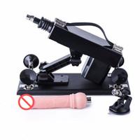 Sex Machine Pistolet de pompage de masturbation féminine avec accessoires de gode Machines automatiques de sexe pour produits de sexe pour femmes J0104