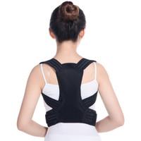 Respirável suporte de cintura apoio traseiro postura M L XL preto adulto ou crianças corcunda correção cinto