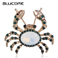 Brooches Blucome Fashion Large Crab Shape Brooches Gold Colo...