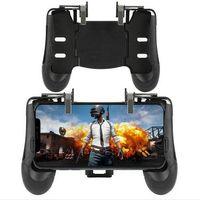 2019 Caliente El ritmo Para PUBG ABS + Control de metal Palanca de mando Joystick de juego Disparo Gamepad L1R1 Botón de disparo Apuntar para todos los teléfonos inteligentes