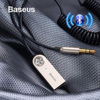 Baseus Adaptateur USB Bluetooth V5.0 Bluetooth Aux Récepteur Audio Transmitter Dongle Câble pour 3,5 mm voiture Jack câble adaptateur voiture