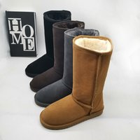 Di alta qualità in Australia WGG stivali lunghi stivali da neve progettista stivali donna scarpe invernali Stiefel stivali bottes chuteiras Australie
