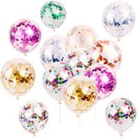 14 Farben 12 Zoll Mode Multicolor Latex Pailletten gefüllt Klar Ballons Neuheit Kinder Spielzeug Schöne Geburtstagsfeier Hochzeitsdekorationen C688