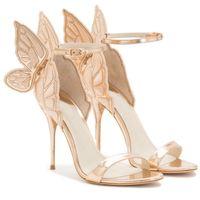 Горячая распродажа мода - женщины ангел крыло сандалии гладиаторский ремешок горнолыжный ремень высокие каблуки вышитые бабочка насосы свадьбы свадебные ботинки партии печать