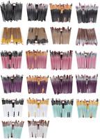 20 шт бренд кисти для макияжа профессиональная косметическая щетка набор с природой контур порошок косметика кисть макияж