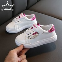 Girls Sneakers Glitter Pearls Girls Shoes Spring Summer Soft...