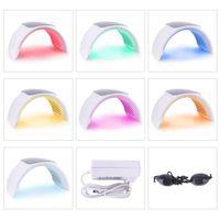 와 2019 Protable 접이식 PDT LED 피부 젊 어 짐 기계 라이트 치료 광자 기계 (7 개) 색상 전문가와 CE 살롱 사용 DHL 무료