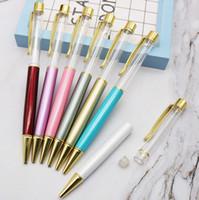 Bolígrafo Bolígrafo vacío de color cristal Bolígrafo hecho a mano de metal para cumpleaños Regalo de San Valentín Regalos para maestros de niños